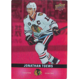 2019-20 TIM HORTONS - JONATHAN TOEWS #DC-9 RED DIE CUTS