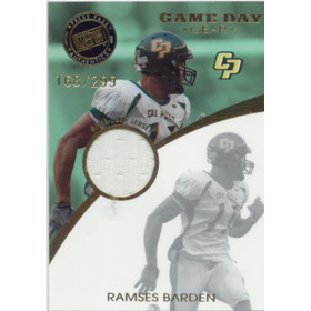 2009 Press Pass SE - Ramses Barden Game Day Gear Jerseys Gold #GDG-RB 168/299