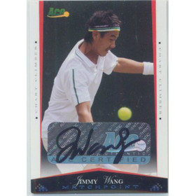 2008 Ace Authentic Match Point - Jimmy Wang Autographs #36