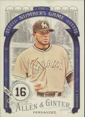 2016 Allen & Ginter - Jose Fernandez The Numbers Game #NG-57