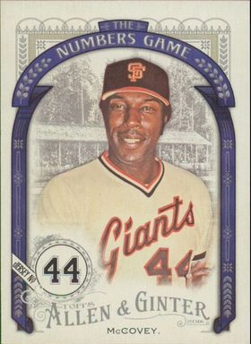 2016 Allen & Ginter - Willie McCovey The Numbers Game #NG-70