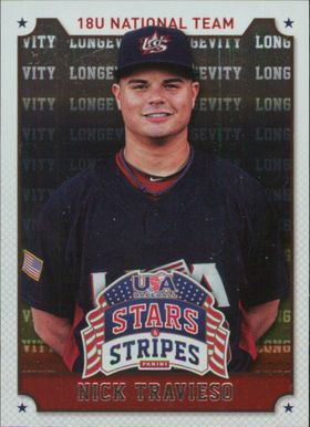 2015 USA Baseball Stars and Stripes - Nick Travieso Longevity #79