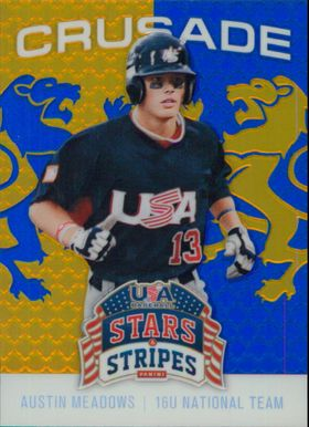 2015 USA Baseball Stars and Stripes - Austin Meadows Crusade Blue #36