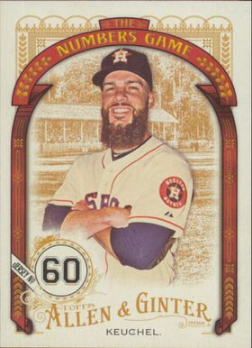 2016 Allen & Ginter - Dallas Keuchel The Numbers Game #NG-64
