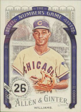 2016 Allen & Ginter - Billy Williams The Numbers Game #NG-71