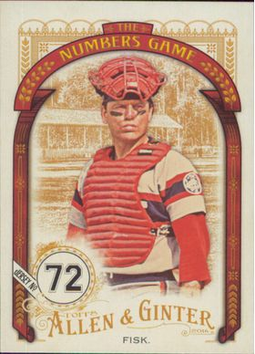 2016 Allen & Ginter - Carlton Fisk The Numbers Game #NG-87