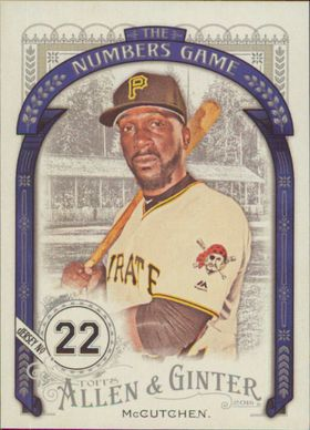 2016 Allen & Ginter - Andrew McCutchen The Numbers Game #NG-10