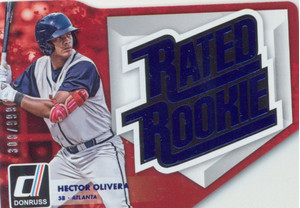 2016 Donruss Rated Rookies Die-Cut Blue - Hector Olivera #RRDC6 308/999