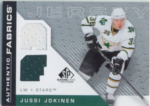 2007-08 SP GAME USED - JUSSI JOKINEN #AF-JU AUTHENTIC FABRICS JERSEYS