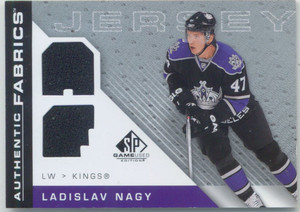 2007-08 SP GAME USED - LADISLAV NAGY #AF-LN AUTHENTIC FABRICS JERSEYS
