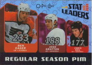 2007-08 O-PEE-CHEE - BEN EAGER & JSH GRATTON & CHRIS NEIL #SL8 STAT LEADERS