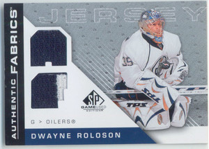 2007-08 SP GAME USED - DWAYNE ROLOSON #AF-DR AUTHENTIC FABRICS JERSEYS