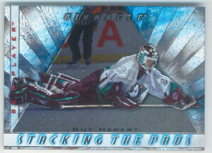 1997-98 BE A PLAYER - GUY HEBERT #1 STACKING THE PADS
