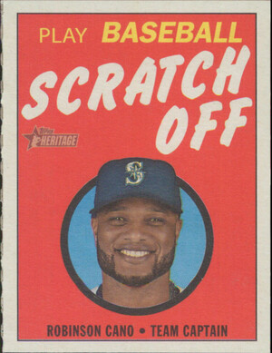 2019 Topps Heritage - Robinson Cano 1970 Scratch Off #13