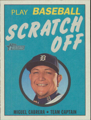 2019 Topps Heritage - Miguel Cabrera 1970 Scratch Off #27