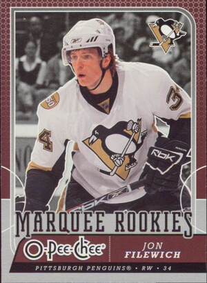 2008-09 O-PEE-CHEE - JON FILEWICH #510 MARQUEE ROOKIE