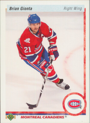 2010-11 UPPER DECK - BRIAN GIONTA #97 20TH ANNIVERSARY
