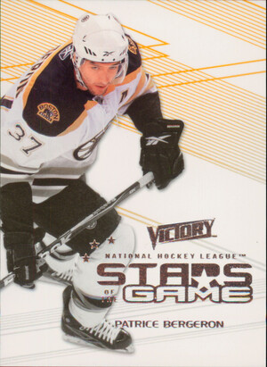 2010-11 VICTORY - PATRICE BERGERON #SOG-PB STARS OF THE GAME