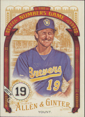 2016 Allen & Ginter - Robin Yount The Numbers Game #NG-98