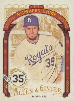 2016 Allen & Ginter - Eric Hosmer The Numbers Game #NG-34