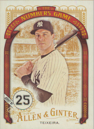 2016 Allen & Ginter - Mark Teixeira The Numbers Game #NG-8