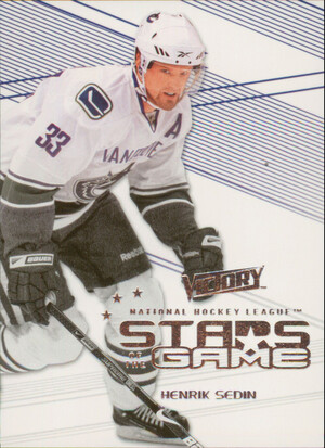 2010-11 VICTORY - HENRIK SEDIN #SOG-HS STARS OF THE GAME