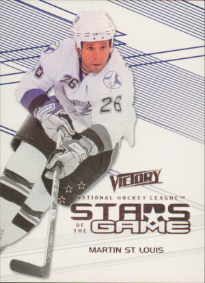 2010-11 VICTORY - MARTIN ST. LOUIS #SOG-MS STARS OF THE GAME