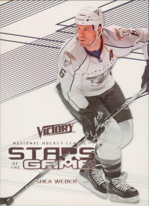 2010-11 VICTORY - SHEA WEBER #SOG-SW STARS OF THE GAME