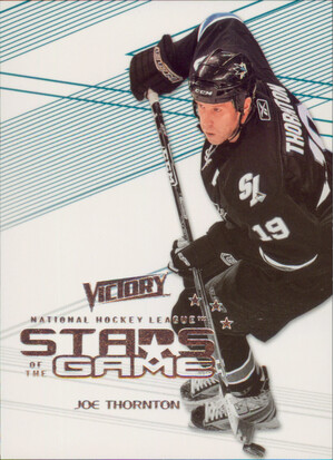 2010-11 VICTORY - JOE THORNTON #SOG-TH STARS OF THE GAME