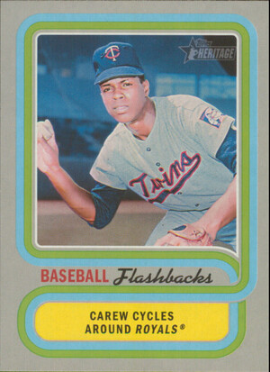 2019 Topps Heritage - Rod Carew Baseball Flashbacks #BF-RC