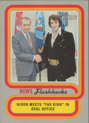 2019 Topps Heritage - Nixon Meets with Elvis Presley News Flashbacks #NF-10