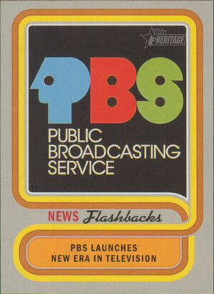 2019 Topps Heritage - PBS Begins Broadcasting News Flashbacks #NF-6