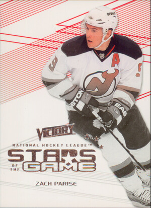 2010-11 VICTORY - ZACH PARISE #SOG-ZP STARS OF THE GAME