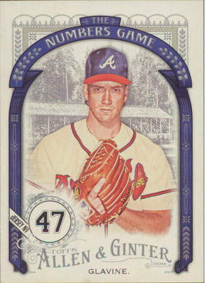 2016 Allen & Ginter - Tom Glavine The Numbers Game #NG-90