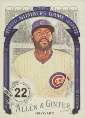 2016 Allen & Ginter - Jason Heyward The Numbers Game #NG-7