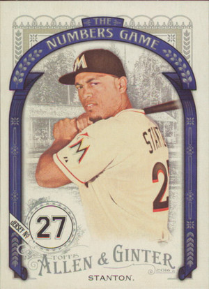 2016 Allen & Ginter - Giancarlo Stanton The Numbers Game #NG-22