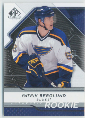 2008-09 SP GAME USED - PATRIK BERGLUND #159 AUTHENTIC ROOKIE 847/999