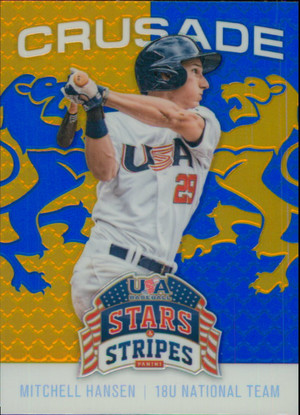2015 USA Baseball Stars and Stripes - Mitchell Hansen Crusade Blue #76