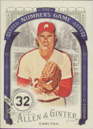 2016 Allen & Ginter - Steve Carlton The Numbers Game #NG-36