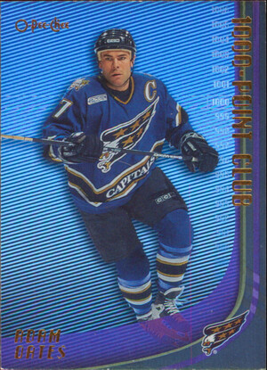 2000-01 O-PEE-CHEE - ADAM OATES #1000PC-7 1000-POINT CLUB
