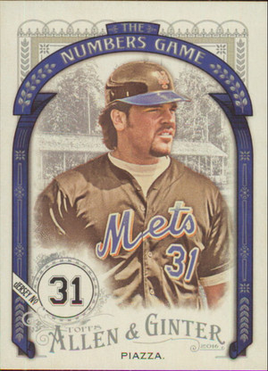 2016 Allen & Ginter - Mike Piazza The Numbers Game #NG-61