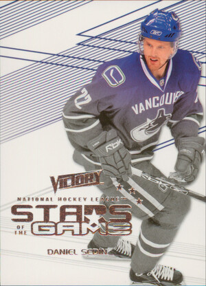 2010-11 VICTORY - DANIEL SEDIN #SOG-DS STARS OF THE GAME