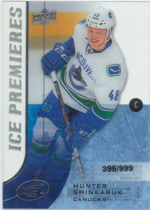 2015-16 ICE - HUNTER SHINKARUK #171 PREMIERES 395/999
