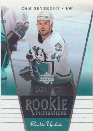 2002-03 ROOKIE UPDATE - CAM SEVERSON #176 ROOKIE INSPIRATIONS 1455/1500